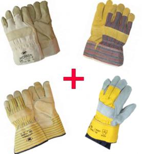 Paket zaščitnih rokavic-usnje