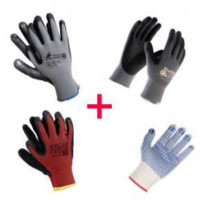 Paket zaščitnih rokavic za montažna dela