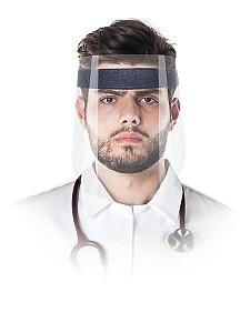 Higienski vizir za obraz z elastiko in peno