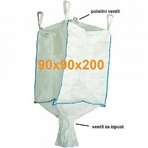 Big Bag Jumbo vreča polnilno krilo in krilo za spust 90x90x200 cm
