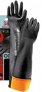 Zaščitne rokavice gumirane s podaljšano manšeto Rindustrial 60 cm