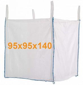 Big Bag Jumbo vreča-odprtina zgoraj, zaprto dno 95x95x140 cm