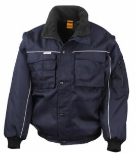 Delovna jakna Duty Jacket Result s snemljivimi rokavi mornarsko modra