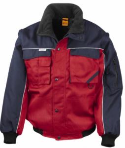 Delovna jakna Duty Jacket Result s snemljivimi rokavi mornarsko rdeča/črna