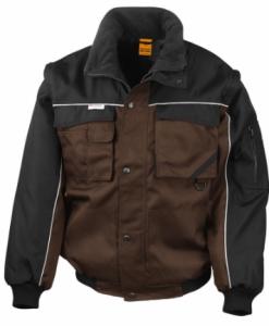 Delovna jakna Duty Jacket Result s snemljivimi rokavi rjava/črna