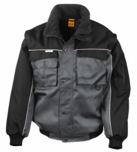 Delovna jakna Duty Jacket Result s snemljivimi rokavi siva/črna