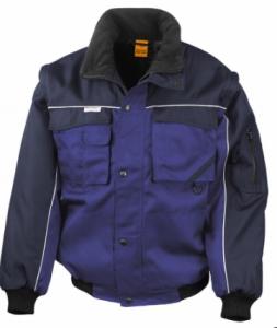 Delovna jakna Duty Jacket Result s snemljivimi rokavi kraljeva/mornarsko modra