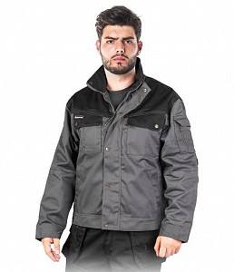 Delovna jakna Everter siva/črna