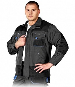 Delovna jakna Formen siva/črna/modra