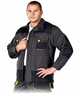 Delovna jakna Formen siva/črna/rumena