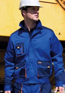 Delovna jakna Lite Result modra/oranžne/črne