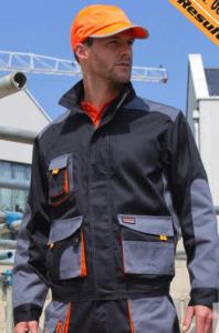 Delovna jakna Lite Result črna/oranžna/siva