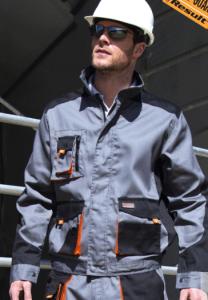 Delovna jakna Lite Result sive/oranžne/črne