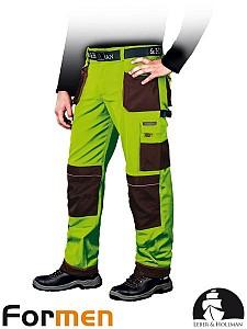 Delovne hlače Formen lima/kaki barve