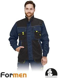 Delovna jakna Formen modra/črna/rumena