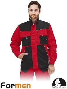 Delovna jakna Formen rdeča/siva/črna