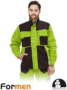 Delovna jakna Formen lima/kaki barve