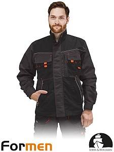 Delovna jakna Formen siva/črna/oranža