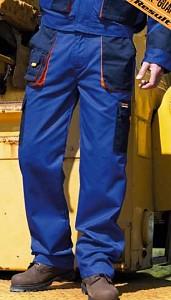 Delovne hlače Lite Result modre/oranžne/sive