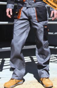 Delovne hlače Lite Result sive/oranžne/črne