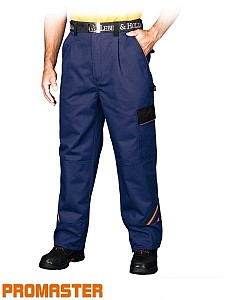 Delovne hlače na pas Promaster modre/oranžne/črne