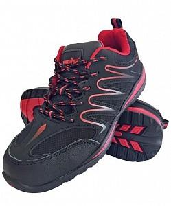 Delovni čevlji Ecuador črne/rdeče barve OB