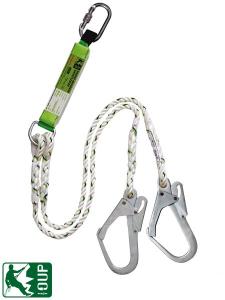 Dvojna varnostna vrv z blažilcem OUP-EAFRL