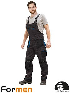 Farmer hlače Formen sive/črne/modre