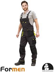 Farmer hlače Formen sive/črne/rumene
