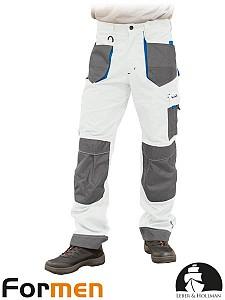 Delovne hlače na pas Formen bele/sive/modre
