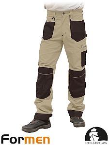 Delovne hlače na pas Formen kaki/črne barve