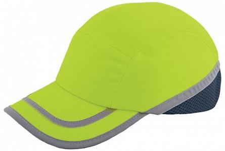 Odsevna zaščitna kapa Baseball EN 812 rumena
