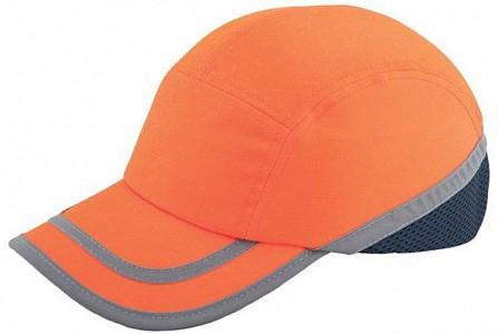 Odsevna zaščitna kapa Baseball EN 812 oranžna