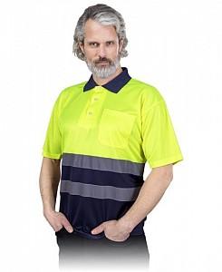 Odsevna Polo majica Fluo kratek rokav