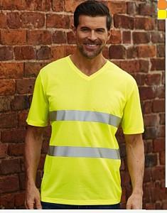 Odsevna T-shirt majica Fluo V-izrez