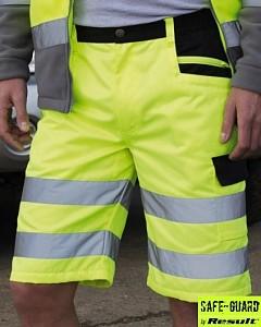Odsevne kratke delovne hlače Stretch Result rumene barve