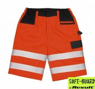 Odsevne kratke delovne hlače Stretch Result oranžne barve