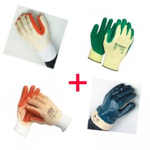 Paket zaščitnih rokavic za gradbena, zunanja dela