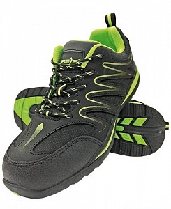 Delovni čevlji Ecuador črne/zelene barve OB