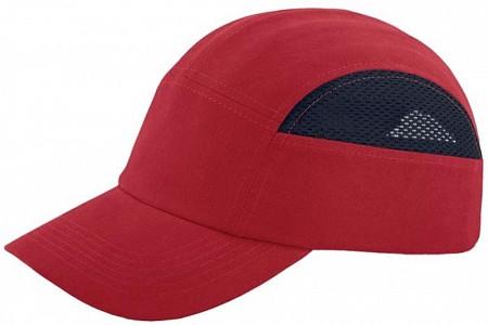 Zaščitna kapa Baseball Mesh EN 812 rdeča