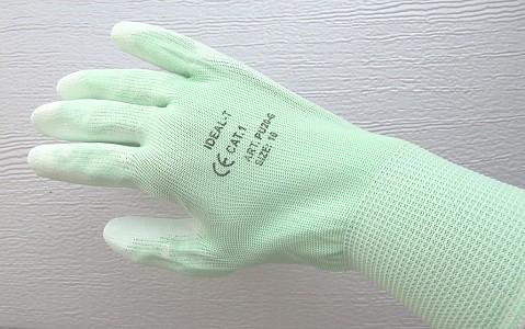 Zaščitne rokavice najlon zelene kategorija 1