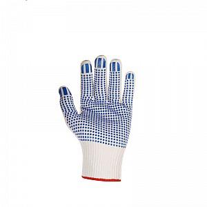 Zaščitne rokavice pletene s PVC bunkicami