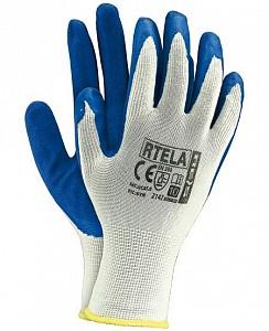 Zaščitne rokavice Rtela bele/modre barve