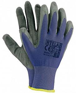 Zaščitne rokavice Rtela modre/sive barve