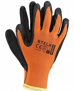 Zaščitne rokavice Rtela oranžne/črne barve