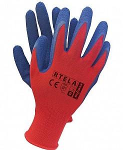 Zaščitne rokavice Rtela rdeče/modre barve