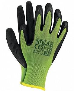 Zaščitne rokavice Rtela rumene/črne barve