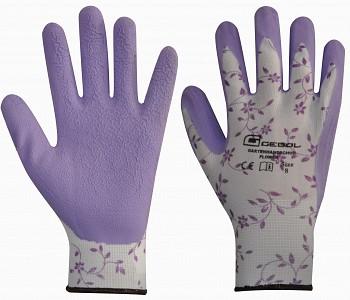 Zaščitne vrtne rokavice Flower najlon/lateks