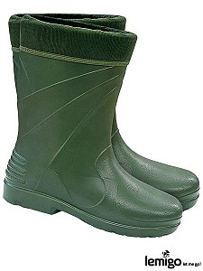 Zaščitni podloženi škornji Alaska zelene, 36-42