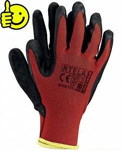 Zaščitne rokavice Rtela rdeče/črne barve